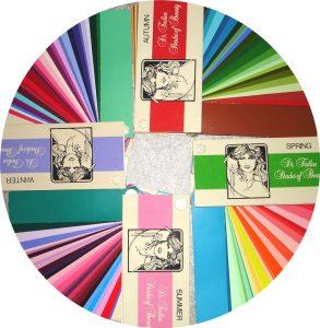 kleurenwaaiers bij een kleurenanalyse